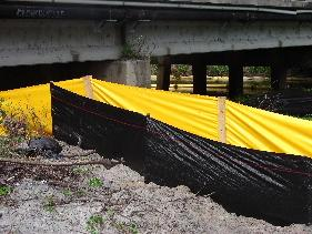 use geo silt fence with yellow silt fence for increased filtration