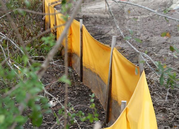 Triton Staked Silt Control Fence is affordable and effective in controlling stormwater