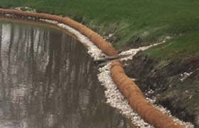 erosion control log