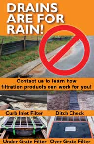 drains are for rain banner