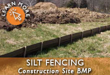 Construction Site Silt Fencing