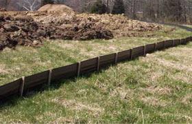 erosion control silt fence